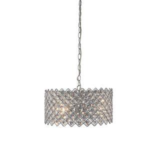 Lindo Crystal Ceiling Pendant Light - Chrome