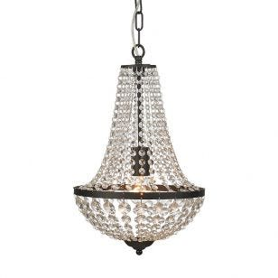 Granso Crystal Chandelier - Matt Black