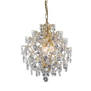 Rosendal Crystal Chandelier - Gold