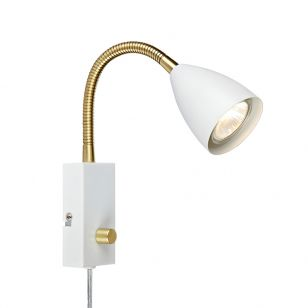 Ciro Flex Reading Light with Plug - White