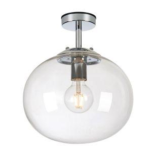 Amy Glass Semi-Flush Light - Clear