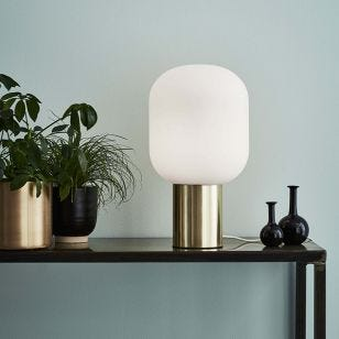Brooklyn Glass Table Lamp - Brushed Brass