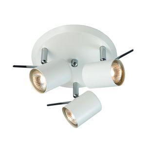 Hyssna 3 Light LED Spotlight Plate - White