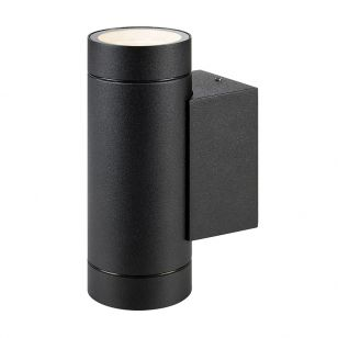 Pipe Outdoor Up & Down Wall Light - Black