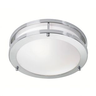 Taby LED Flush Ceiling Light - Chrome