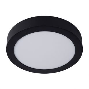 Lucide Brice 15W LED Flush Ceiling Light - Black