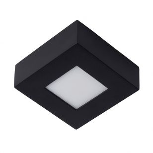 Lucide Brice 8W LED Square Flush Ceiling Light - Black