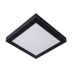 Lucide Brice 30W LED Square Flush Ceiling Light - Black