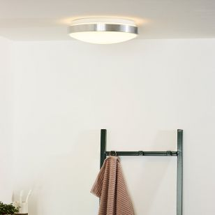 Lucide Casper 12W LED Flush Ceiling Light - Satin Chrome