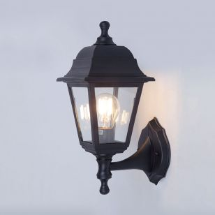 Edit Coastal Sennen Outdoor Lantern Wall Light - Black