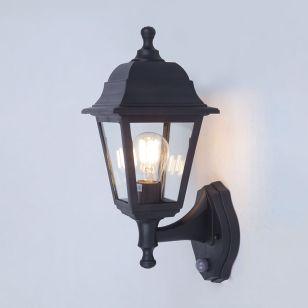 Edit Coastal Sennen Outdoor Lantern Wall Light with PIR Sensor - Black