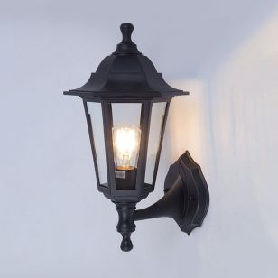 Edit Coastal Large Sennen Outdoor Lantern Wall Light - Black