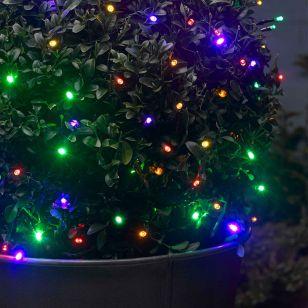 Multi Colour Solar LED String Lights - 50 Lights