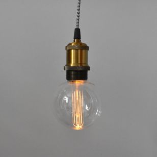 Edit Battery Operated LED Lightbulb Pendant