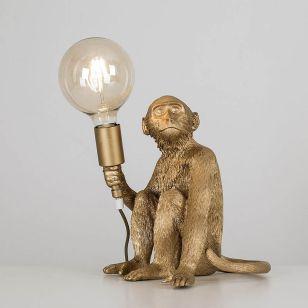 Edit Sitting Monkey Table Lamp - Gold