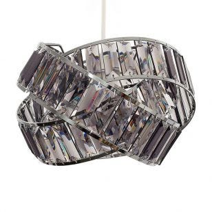 Edit Allure Easy Fit Ceiling Pendant Shade - Smoked