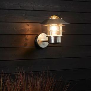 Edit Coastal Stage Outdoor Wall Light - Galvanised Steel