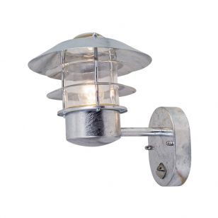 Edit Coastal Stage Outdoor Wall Light with PIR Sensor - Galvanised Steel