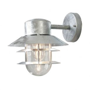 Edit Coastal Stage Outdoor Hanging Wall Light - Galvanised Steel