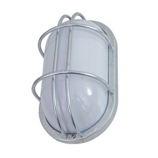 Edit Coastal Fjord Oval Outdoor Flush Wall Light - Galvanised Steel