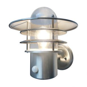 Edit Stage Outdoor Wall Light with PIR Sensor - Stainless Steel
