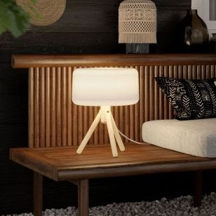 Emma Solar LED Outdoor Table Lamp with Remote Control