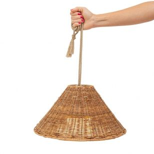 Callie Battery Operated LED Outdoor Pendant Feature Light - Rattan