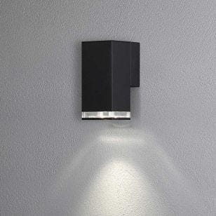 Konstsmide Antares Outdoor Wall Light - Black