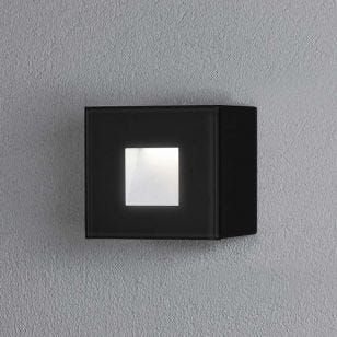 Konstsmide Chieri Square LED Outdoor Wall Light - Black