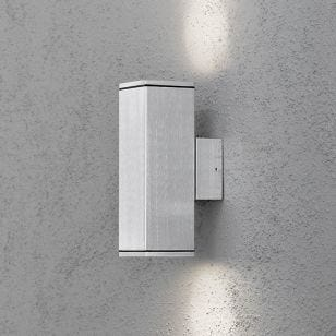 Konstsmide Monza Up & Down Outdoor Wall Light - Aluminium