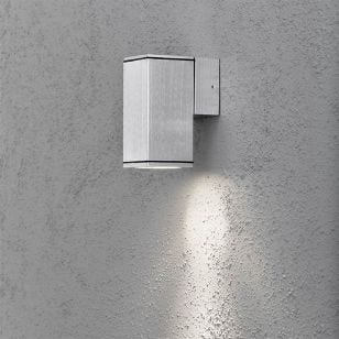 Konstsmide Monza Outdoor Wall Light - Aluminium