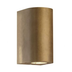 Nordlux Canto Maxi Outdoor Up & Down Wall Light - Brass
