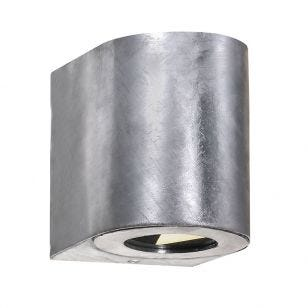 Nordlux Canto Warm White LED Outdoor Up & Down Light - Galvanised Steel
