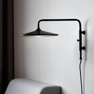 DFTP Balance LED Wall Light with Plug - Black