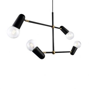 DFTP Manhattan 4 Light Ceiling Pendant - Black