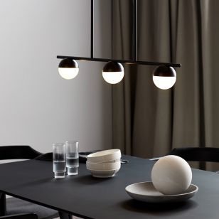 Nordlux Contina 3 Light Bar Ceiling Pendant - Black