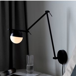 Nordlux Contina Wall Light with Plug - Black