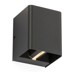 Box LED Outdoor Up & Down Wall Light - Anthracite