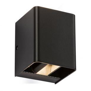 Box LED Outdoor Up & Down Wall Light - Black