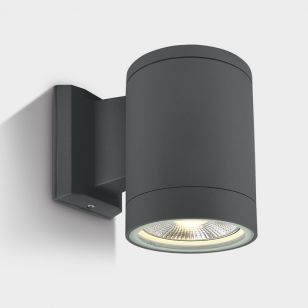 Cylinder Large Outdoor Wall Light - Anthracite