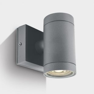 Cylinder Outdoor Wall Light - Grey