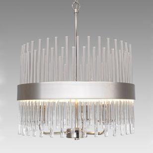 Edit Mia 3 Arm Glass Ceiling Pendant Light - Satin Nickel