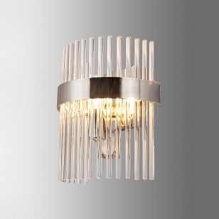 Edit Mia Glass Flush Wall Light - Polished Nickel