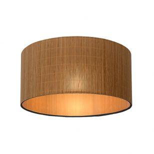Lucide Magius Flush Ceiling Light - Rattan