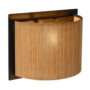 Lucide Magius Flush Wall Light - Rattan