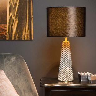 Lucide Extravaganza Velvet Table Lamp - Black