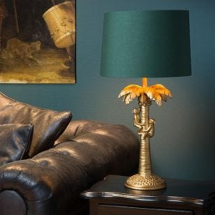 Lucide Extravaganza Coconut Table Lamp - Green & Gold
