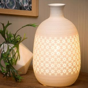Lucide Tiesse 154 Porcelain Table Lamp - White