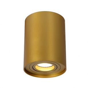 Lucide Tube Flush Ceiling Light - Matt Gold