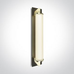 Empire LED Flush Wall Light - Brushed Brass